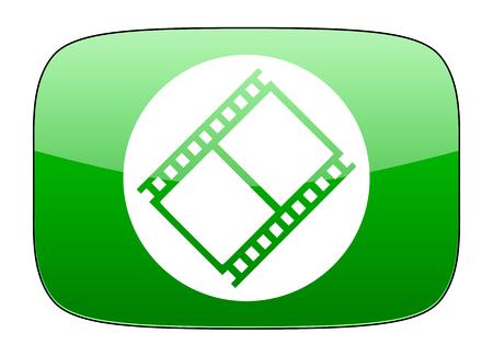 movie sign: film green icon movie sign cinema symbol