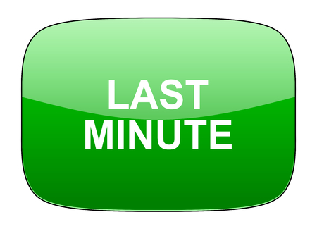 minute: last minute green icon Stock Photo