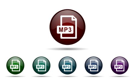 mp3: mp3 file icon Stock Photo