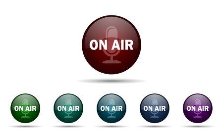 air: on air icon Stock Photo