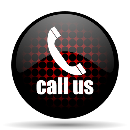 call us red glossy web icon photo