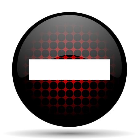 icono web: rojo menos icono web brillante