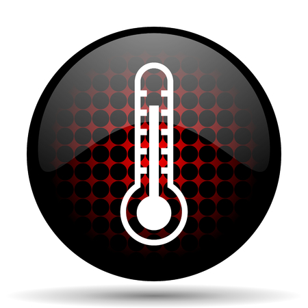 thermometer red glossy web icon photo