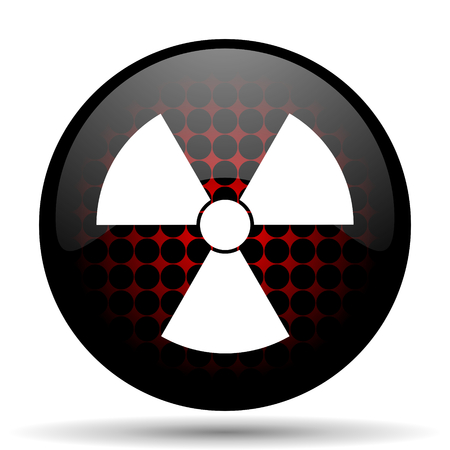 radiation red glossy web icon photo