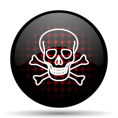 pirating: skull red glossy web icon Stock Photo