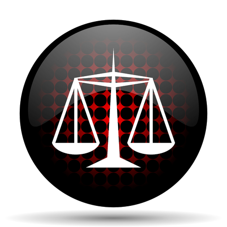 criminal act: justice red glossy web icon Stock Photo