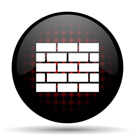 icono web: firewall icono rojo brillante Web