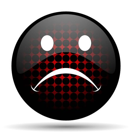 confirm confirmation: cry red glossy web icon Stock Photo
