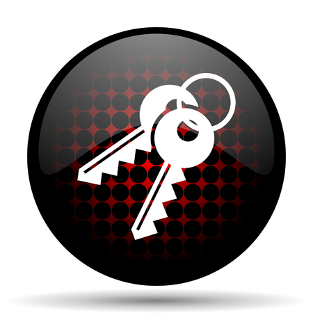 keys red glossy web icon photo