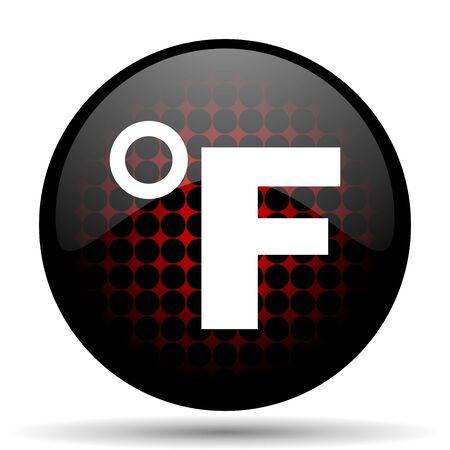 fahrenheit: fahrenheit red glossy web icon