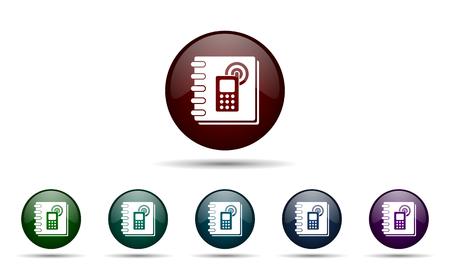 phonebook: phonebook icon Stock Photo