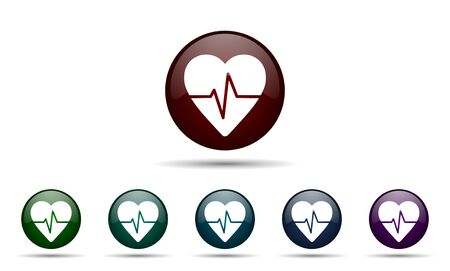 pulse icon heart rate sign photo