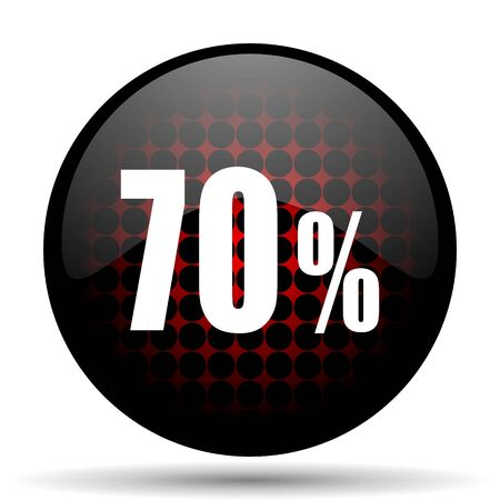 70 percent red glossy web icon photo