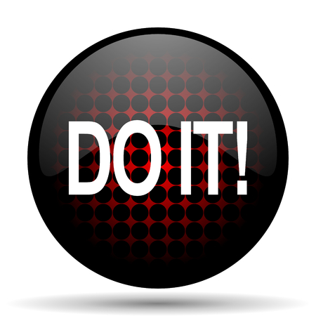 do it: do it red glossy web icon