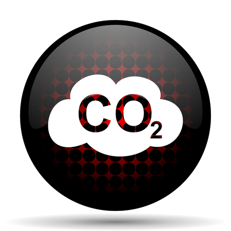 carbonic: carbon dioxide red glossy web icon