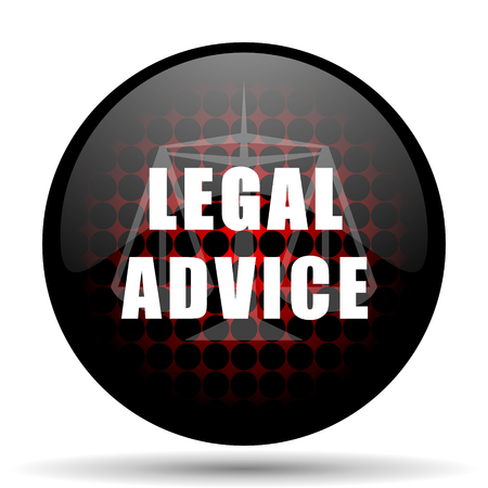 criminal act: legal advice red glossy web icon