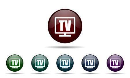 programm: tv icon television sign