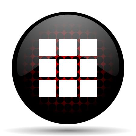 thumbnails: thumbnails grid red glossy web icon
