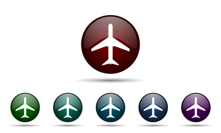 airport sign: plane icon airport sign Stock Photo