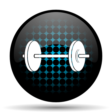 circular muscle: fitness icon Stock Photo