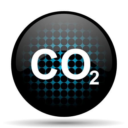 dioxido de carbono: dióxido de carbono signo icono co2 Foto de archivo