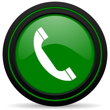 phone green icon telephone sign photo