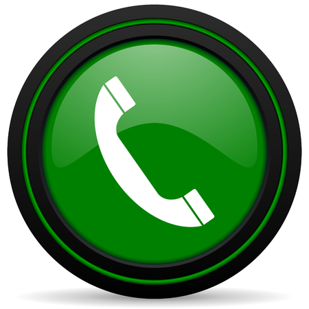 phone green icon telephone sign photo