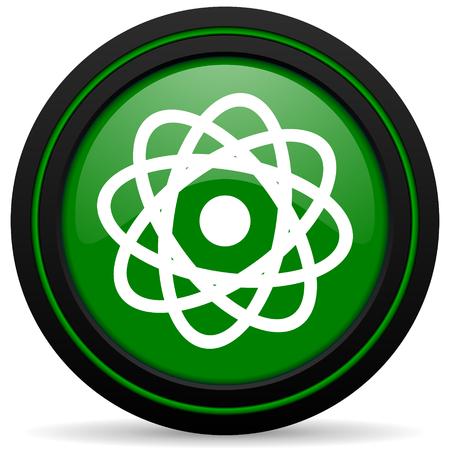 atom green icon photo