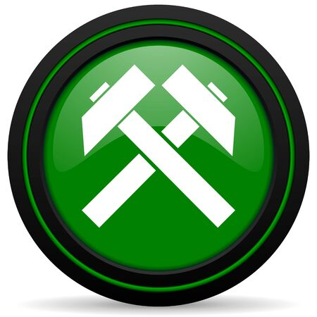 mine site: mining green icon
