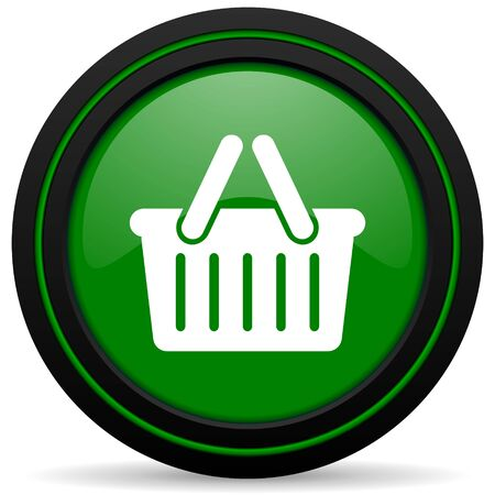 cart green icon shopping cart symbol photo