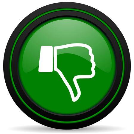pulgar abajo: aversi�n icono del pulgar hacia abajo signo verde Foto de archivo