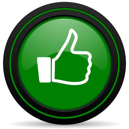 like green icon thumb up sign photo