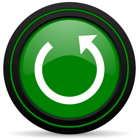 rotate: rotate green icon reload sign