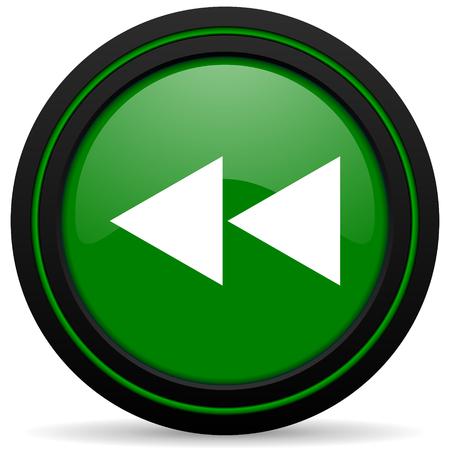 rewind: rewind green icon
