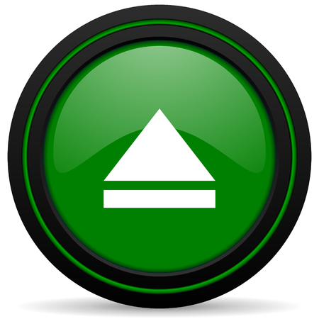 eject icon: eject green icon open sign