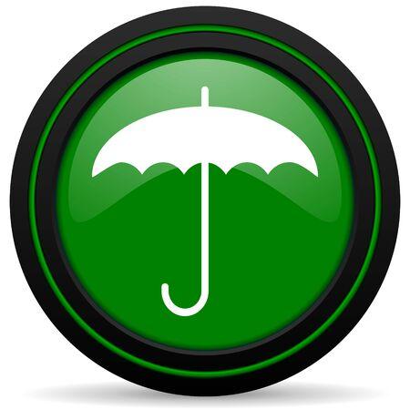 umbrella green icon protection sign photo