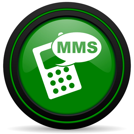 mms icon: mms green icon phone sign