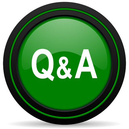answer: question answer green icon
