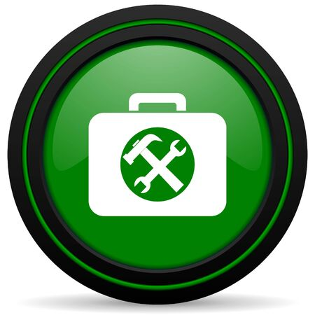 toolkit: toolkit green icon service sign
