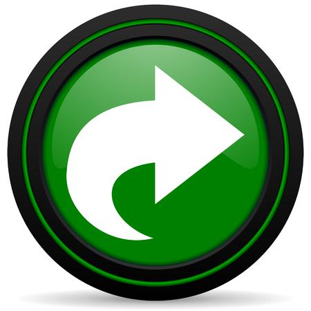 next green icon arrow sign Stock Photo