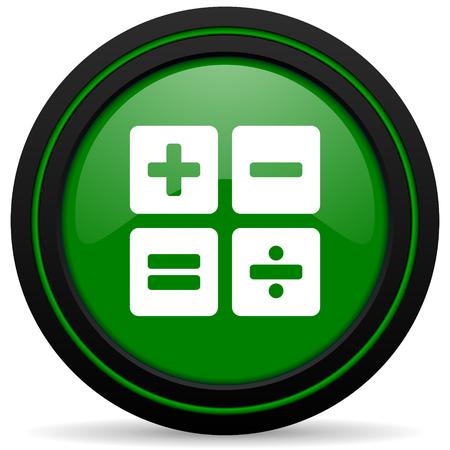 calc: calculator green icon calc sign