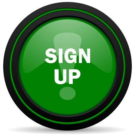 subscribing: sign up green icon