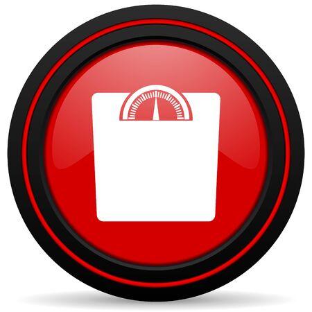 icono web: peso web icono rojo brillante