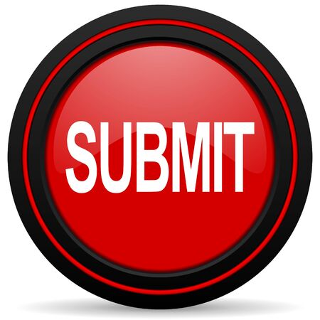 submit: submit red glossy web icon