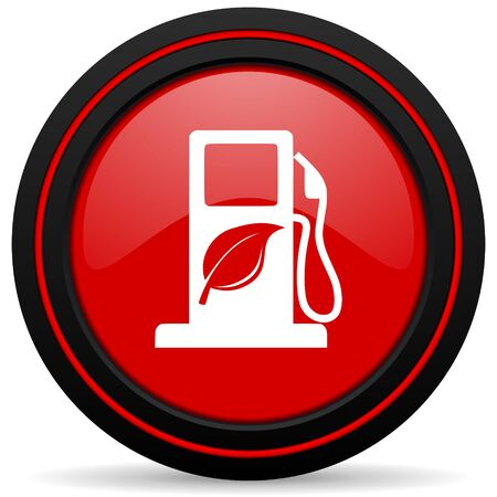 canola: biofuel red glossy web icon