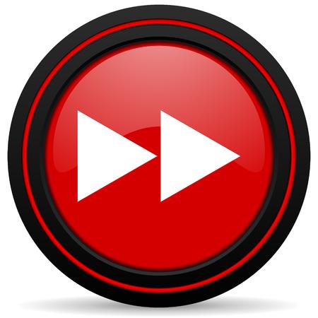 rewind: rewind red glossy web icon Stock Photo