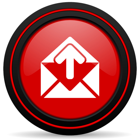 secretariat: email red glossy web icon