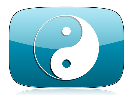 yang ying: ying yang icon Stock Photo