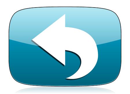 back icon: back icon arrow sign Stock Photo