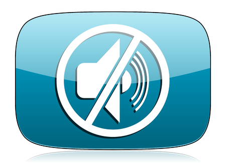 mute: mute icon silence sign Stock Photo
